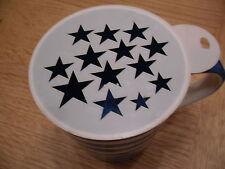 Café estrellas de corte láser y plantilla de artesanía