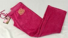 Juicy Couture Velour Drawstring Sweat Pants Viva La JC Nook & Cranny Pink Size L