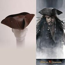 Pirates of the Caribbean Jack Sparrow Tri Corner Buccaneer Hat Cappelli Cosplay