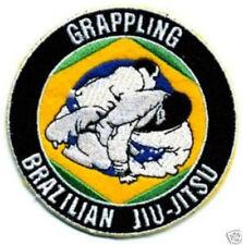 Brazilian Jiu Jitsu Patch (3.5 Inch) Embroidered Grappling Badge BJJ Gi Shorts