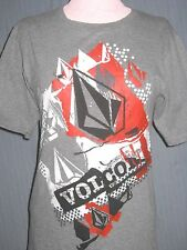 Volcom Adult Small Gray T-Shirt ( S Surf Surfboard Skater Skateboard )