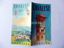 Vecchia brochure CAVALESE Trento trentino Dolomiti tennis pesca