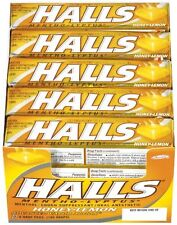 Halls Drops, Honey Lemon, 9 Ct, 20 Sticks (Pack of 24)