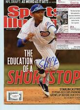 STARLIN CASTRO SPORTS ILLUSTRATED CUBS/YANKEES NO LABEL SIGNED JSA G00710