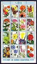 Flore - Fleurs Guinée équatoriale (99) série complète de 16 timbres oblitérés
