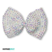 Large Crystal Bow Sparking Diamante Encrusted Hair Clip Grip