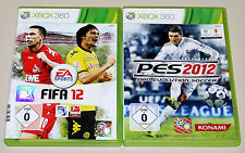 2 xbox 360 jeux Bundle-pes & FIFA 2012-football pro evolution soccer 2015