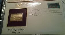 YOUTH ORGANIZATIONS--CAMP FIRE-- -22KT Golden Replica of United States Stamps
