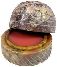 Romantic Rose Solid Perfume in Hand Carved Soapstone Container With Lid!