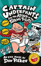 """Dav Pilkey Captain Underpants and the Attack of the Talking Toilets """"AS NEW"""" Boo"""
