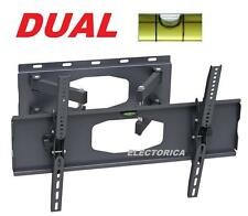 "30-60"" DUAL ARM LCD LED HD TV FULL MOTION WALL MOUNT 3D  55 50 52 48 32 36 42 40"