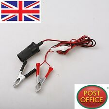12V Car Battery Terminal Clip-On Cigar Cigarette Lighter Power Socket Adapter