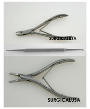 Podiatry Kit of 3 Tools, Straight + Anvil Pattern Nail Splitters + Nail Curette