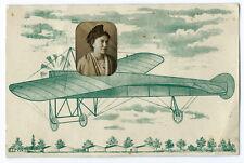Photo carte arlésienne en avion photomontage Arles Provence vers 1910