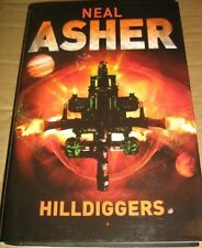 Neil Asher SIGNED & DATED Hilldiggers UKHC 1st Edn