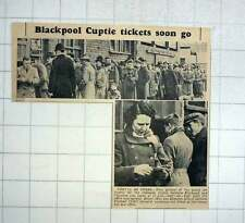 1951 Blackpool Cup Tie Tickets Sell Quick Mrs Les Allmand
