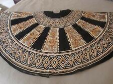 Unique Vintage Ethnic Me Jane Hand Painted Sequin Full Circle Skirt - One Size