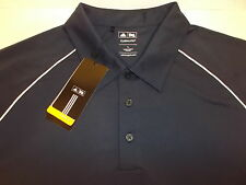 CHICAGO BULLS GOLF POLO SHIRT MEN'S L BLUE EMBROIDERED LOGO ADIDAS CLIMALITE NWT