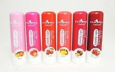 6 PCs Italia Tinted Lip Balm with Vitamin E & Nice Fruit Smells for Lovely Lip~
