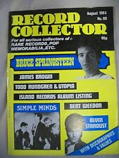 Record Collector Magazine. Issue no. 60. August 1984. James Brown, Springsteen