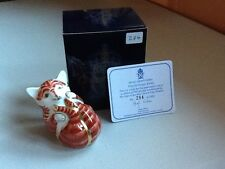 Royal Crown Derby Ginger Playful Kitten -Boxed - Limited Edition