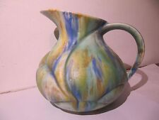 Fieldings Crown Devon Mattatone Art Deco Pottery Jug