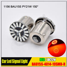 2X 1156 BAU15S PY21W Red CANBUS Error Free 19 SMD Brake Tail Car LED Light Bulb