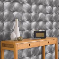 AS CREATION SQUARE PATTERN LEATHER EFFECT NON WOVEN TEXTURED WALLPAPER 959992