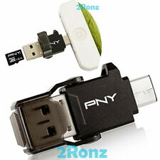 PNY UCR01 USB 3.1 Type C to USB A Female Flash Drive Micro SDHC TF Card Reader
