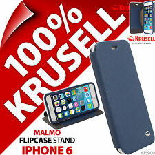 New Krusell Malmo Flip Stand Case for Apple iPhone 6 Blue Cover Wallet Folio 4.7