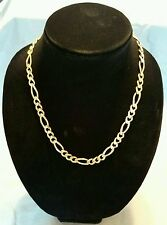 """Men's 14K 585 Yellow Gold Figaro Link Chain Necklace 21"""" 72.5 Grams-HEAVY!!!!"""