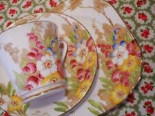ANTIQUE China PHOENIX Tea Trio HAND PAINTED Floral ART DECO Vintage STUNNING