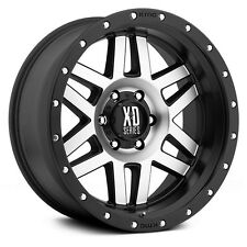 17 Inch Black and Machined Wheels Rims XD Series Machete XD128 8 Lug Set of 4