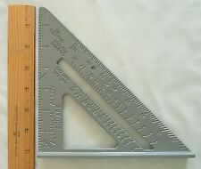 "7"" Aluminum Speed Square - protractor - miter - framing"