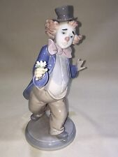 Lladro 6937 For a Smile Clown Holding Flowers Porcelain Figurine
