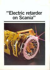 Scania Electric retarder Prospekt GB 1984 brochure truck Lkw Nutzfahrzeug Sweden