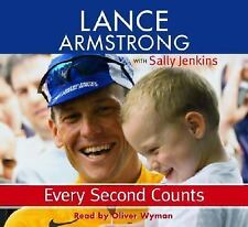 LANCE ARMSTRONG EVERY SECOND COUNTS The AUDIOBOOK CD BIKE RACING CANCER NEW