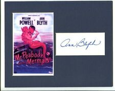Ann Blyth Mr Peabody And The Mermaid Western Star Signed Autograph Photo Display