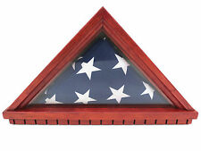 Flag Display Case Military Shadow Box Cherry wood
