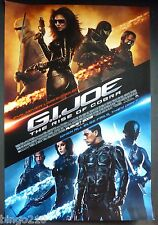 GI JOE THE RISE OF THE COBRA  ORIGINAL 2009  1 SHEET  POSTER CHANNING TATUM