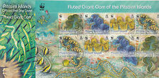 Pitcairn Islands 2012 FDC Fluted Giant Clam 8v M/S Cover Tridacna Squamosa WWF