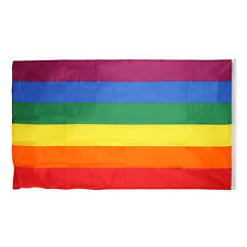 Rainbow Flags 3x5FT 90x150cm Polyester Lesbian Gay Pride LGBT Supporters