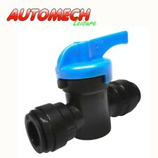 Guest Type,12mm Push Fit Shut Off Valve for 12mm Semi Rigid Pipe (N241)