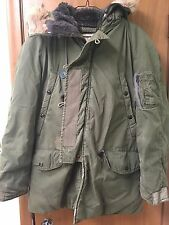 JACKET FLYING MANS N-3B MODIFIED VINTAGE COYOTE FUR PARKA FLYERS US MILITARY VGC
