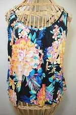 Floral Ruffle Back Tank Womens M Candies