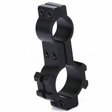 25.4mm/19mm Dual Rings Sight Scope Rifle Tube 20mm Rail Mount for Laser Torch
