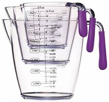 Kitchen Craft Colourworks 3 Piece Measuring Jug Set - Purple