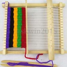Children Kid Wooden Loom Weaving Knitting Set Science Experiment Educational Toy