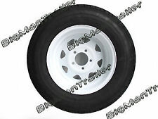"New 14"" White HT Wheel Tyre 185 Light Truck 185R14C Trailer Caravan Camper Boat"