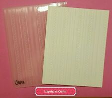 Sizzix Scallops & Lines striped lines A2 Large Embossing folder new (1600)